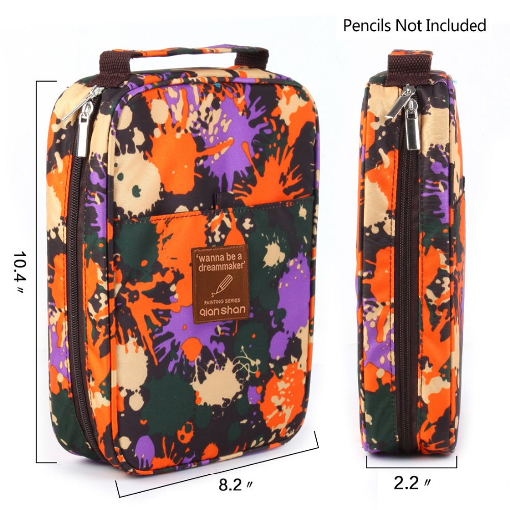 Children Drawing Painting Arts Supplies 100 120 132 144 150 Pencil Bag Case Portable Colorful Pattern Pencil Box Storage spark storage bag portable carrying case storage box for spark drone accessories can put remote control battery and other parts