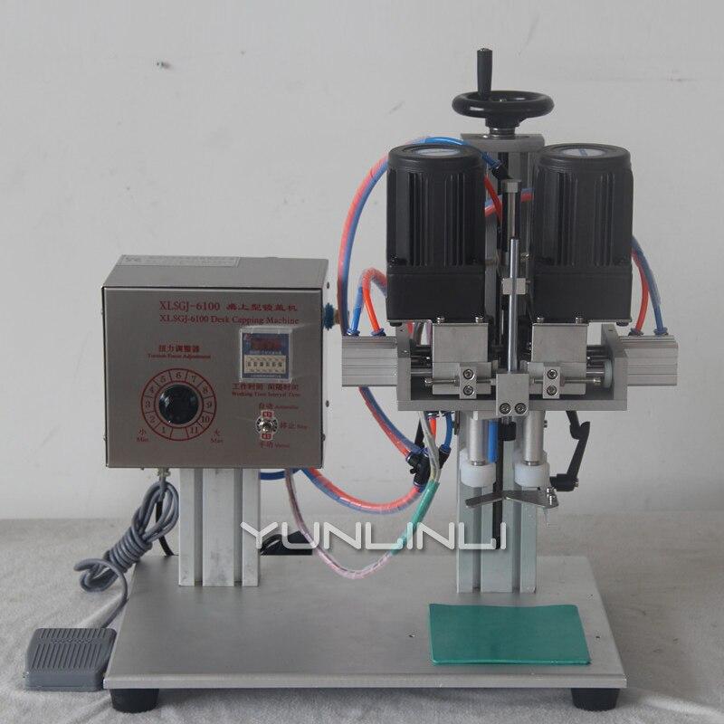 XLSGJ 6100 утконоса крышка запорный механизм 110 В/220 В ручной/автоматический колпачок машины для запечатывания тары бутылки с распылителем кепки