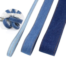 10 Meters Denim Belt Ribbon Handmade Bow Hairpin Material Christmas Party Decoration Gift Packaging DIY Apparel Sewing striped tape fabric ribbon diy craft bow tie material apparel sewing gift wrapping christmas wedding party ribbons 10 meters