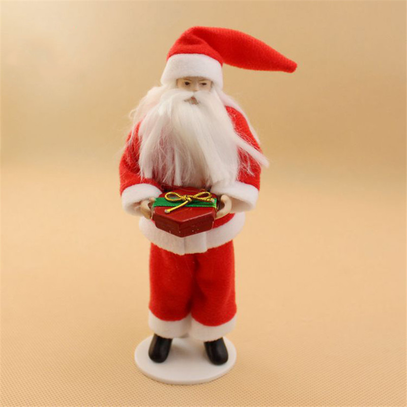 Christmas Santa Claus dolls for 1:12 dollhouse kids family pretend play toys miniature ceramics doll for children girls gifts
