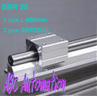 ФОТО 1 pcs SBR20 L-800mm  linear rail + 2 pcs SBR20UU bearing block slide unit