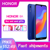 Original HuaWei honor 8A Octa Core Android 9.0 6.09 IPS 1560X720 3GB RAM 64GB ROM Face ID 3 Slots 8.0MP+13.0MP camera MTK6765