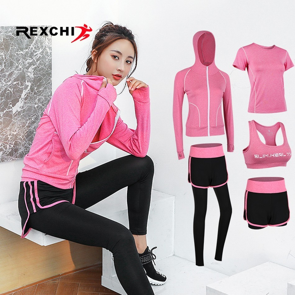 Women Sports Clothing Yoga Wear Set Gym Fitness Suit for Outdoor Running Jogging Clothes Training Workout Quick Dry Jumpsuit new stretch yoga running suits fitness sports woman gym clothe suit short sleeved jogging femme 3 set clothing for women