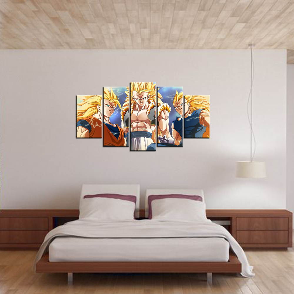Modern Painting For Living Room Wall Decor Canvas Painting Dragon Ball Z Picture Canvas Home
