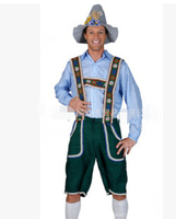 free shipping Halloween farmer beer uniform workers' harness pants game uniform German beer Cosplay male