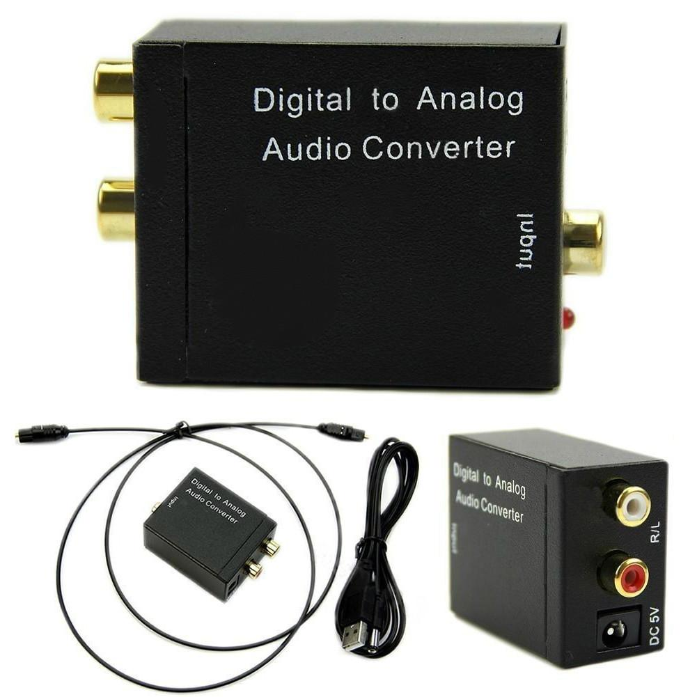 Digital to Analog Audio Converter Adapter Digital Optical Fiber Coaxial RCA Toslink Signal to Analog Audio Converter RCA for DVD best price digital optical fiber coax coaxial toslink to signal converter adapter audio transverter rca l r with usb cable