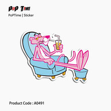 A0491 Pink Panther Graffiti Stickers suitcase laptop Skateboard Decal Bicycle Notebook Mixed books Waterpoof DIY Boy Girl Toys(China)
