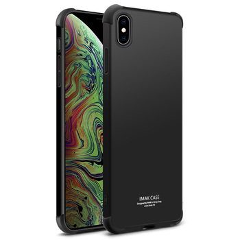 IMAK Rubber TPU Silicone Shockproof Back Cover For iphone XS Max Anti-knock Phone Case for iphone 6.5 with Screen protector iPhone