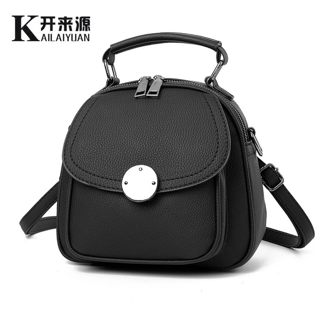 3ce76aa9478 2017 New Fashion Women Backpacks Korean Style Pu Leather Bags Female Luxury School  Bags For Student