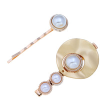XIYANIKE 2Pcs/Set 2019 New Simple Design Jewelry Imitated Pearls Hair Clips Metal Hairpin For Girls Headdress Accessories(China)