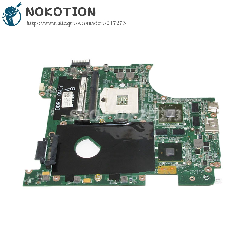 NOKOTION For Dell Inspiron 14R N4010 Laptop Motherboard HM57 DDR3 HD5650M Video card 1GB CN-0951K7 0951K7 DAUM8CMB8C0 nokotion laptop motherboard for dell vostro 3500 cn 0w79x4 0w79x4 w79x4 main board hm57 ddr3 geforce gt310m discrete graphics