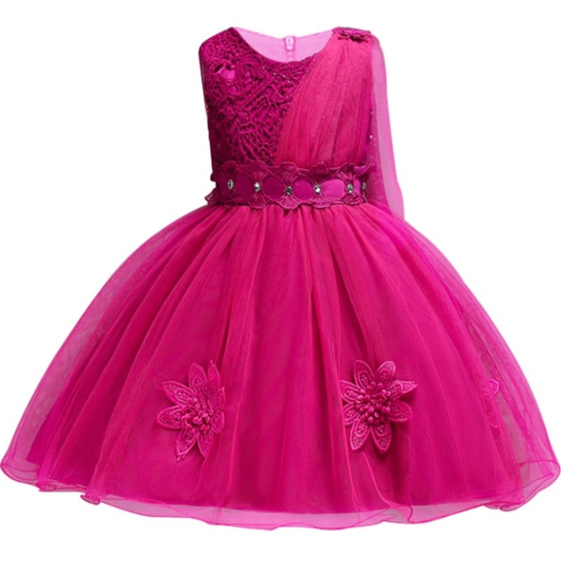 Kids Clothes Girls Flower Dress Children Girl Embroidery Party Dress Baby Princess Sequined Gown Tutu Wedding Dress teenage girl party dress children 2016 summer flower lace princess dress junior girls celebration prom gown dresses kids clothes