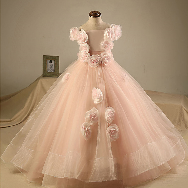 Baby party frocks flowers children\'s bow girl ball gowns dresses ...
