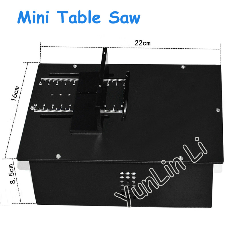 Mini Table Saw Precision Woodworking Saw Metal Cutting Machines Model Saws DC 12-24V 5000RPM A00-B20 metal band jig saw sweep saw small woodworking for beads wood cutting q10027