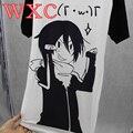 Mulheres Esfriar Camisa Noragami Escola Roupas Patchwork Feminino Camisa Harajuku Japão Anime Kawaii Tops WXC