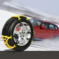 1 kit 6pcs  Univercal Auto Car Snow Anti-skid Chains Winter Snow Chains Vehicles Wheel Antiskid Non-slipping Tire