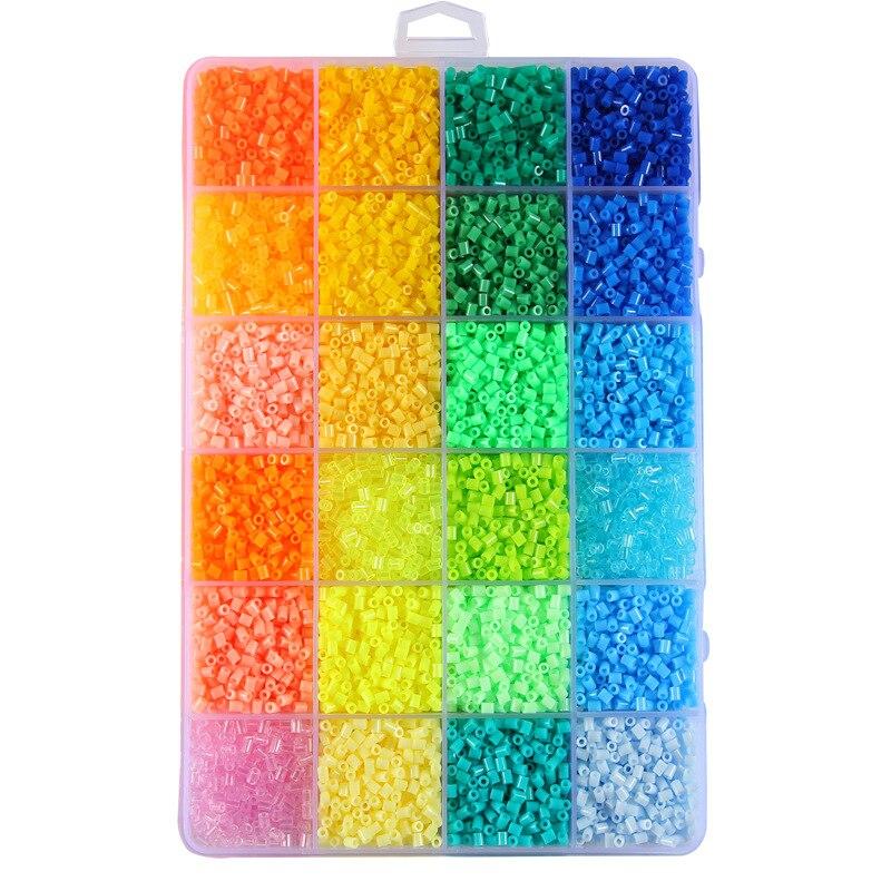 72 perles Perler couleur 39000 pièces boîte ensemble de perles Hama 2.6mm pour enfants puzzle éducatif bricolage jouets fusible perles panneau perforé - 4