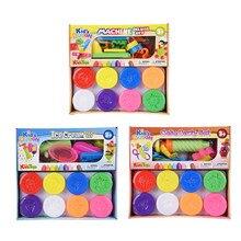 Дети нетоксичные пена fimo polymer clay wheatmeal пластилин play тесто пластилин набор дети рыхлым инструмент формы развивающие игрушки