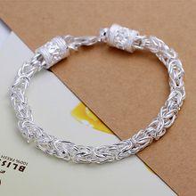 fdb143921257 Estilo de verano fina 925 pulsera de plata esterlina 925-Sterling-Silver  joyas pulseras de cadena bijouterie para hombres SB096