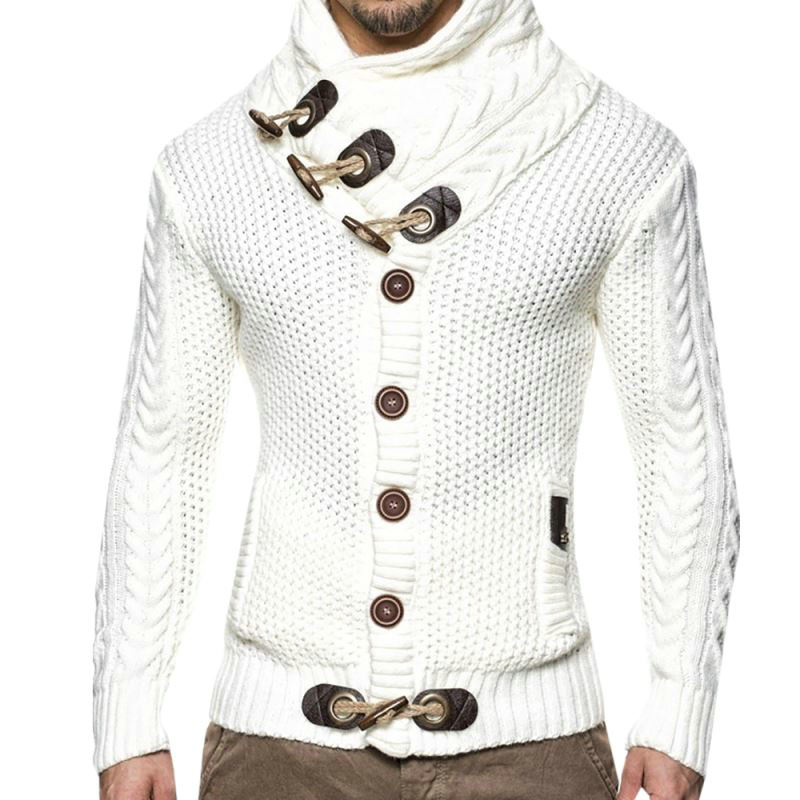 Autumn Winter Fashion Casual Cardigan Sweater Coat Men Loose Fit 100 %Terylene Warm Knitting Clothes Sweater Coats Men 3XL