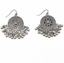 Handmade Ethnic Gypsy Party Jewelry Heavy Metal chandelier Earrings  Beads Tassel Dangle science Earrings