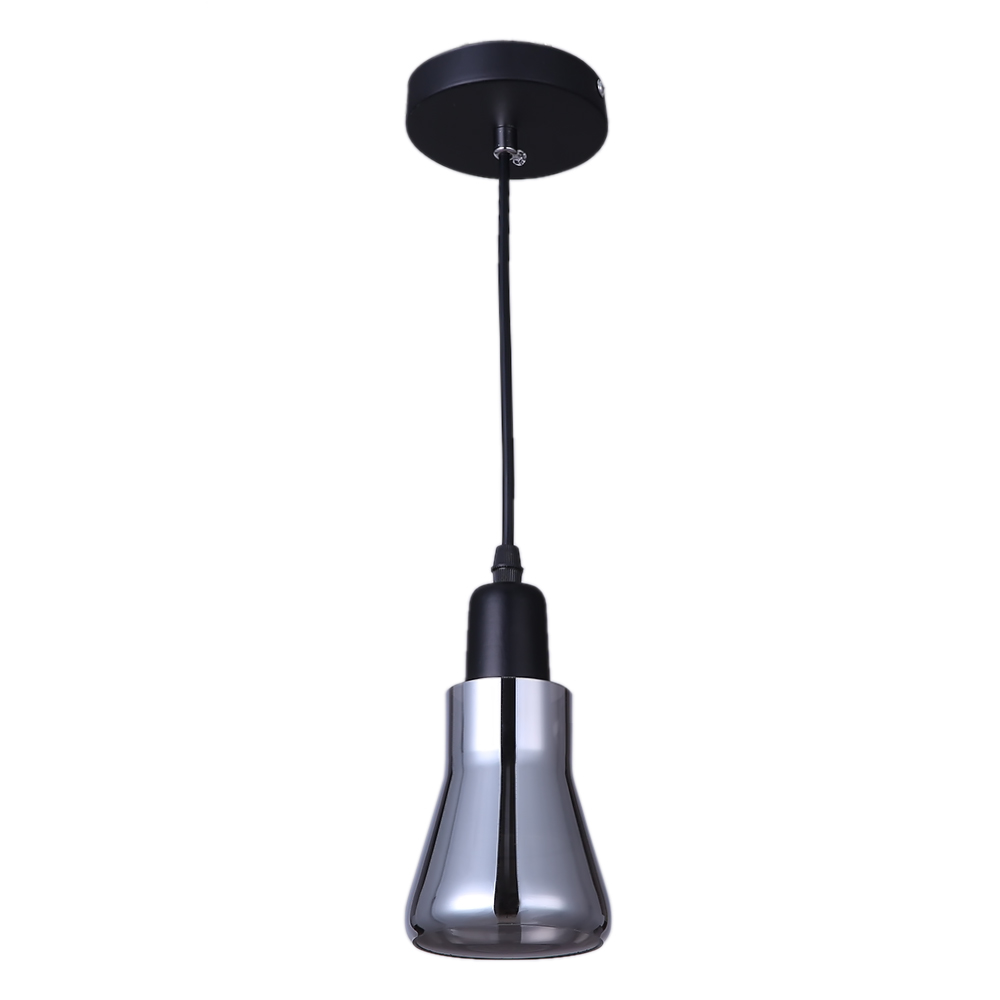 American Vintage Pendant Lights Iron Gray Glass Hanging Bell Pendant Lamp E27 110V 220V For Dinning Room Home Decor Planetarium подвесной светильник st luce glitter sl856 503 03