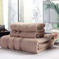 SunnyRain 3 Pieces Bamboo Fiber Towel Set Face Towel Bath Towels For Adults