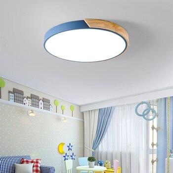 Multicolour Moderne Led Plafondlamp Super Dunne 5 Cm Massief Houten Plafond Lampen Voor Woonkamer Slaapkamer Keuken Verlichting Apparaat