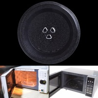 Transparent 24 5cm Diameter Thermostable Glass Groove Microwave Oven Rotating Plate Rotating Pallet Dish
