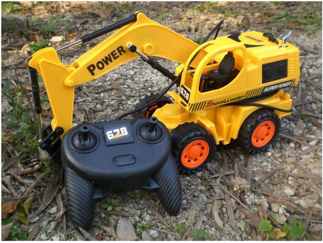 FIO de veículos de Construção de controle remoto caminhão crianças brinquedos clássicos menor preço frete grátis para crianças presente