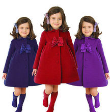 Winter Baby Kids Girls Clothes Outerwear Warm Fleece Trench Coat Jacket Fashion New Style