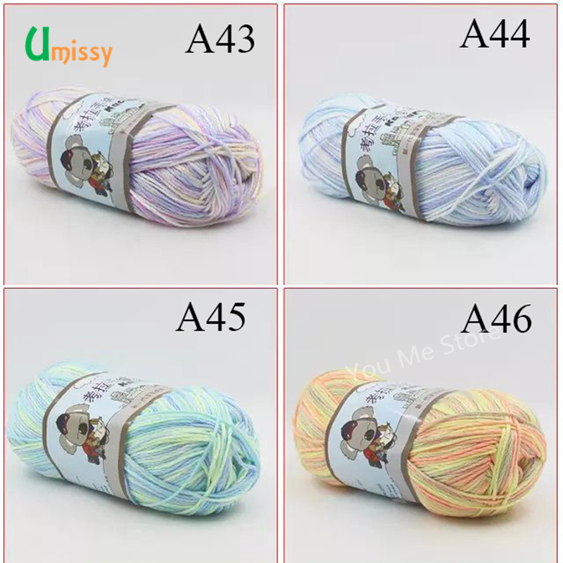 5 unids grueso hilo para tejer lana hilo mezclado colorido suave ...