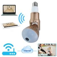 JCWHCAM 960P Bulb Light Wireless IP Camera 360 Degree Panoramic FishEye Security CCTV Camera Wifi P2P