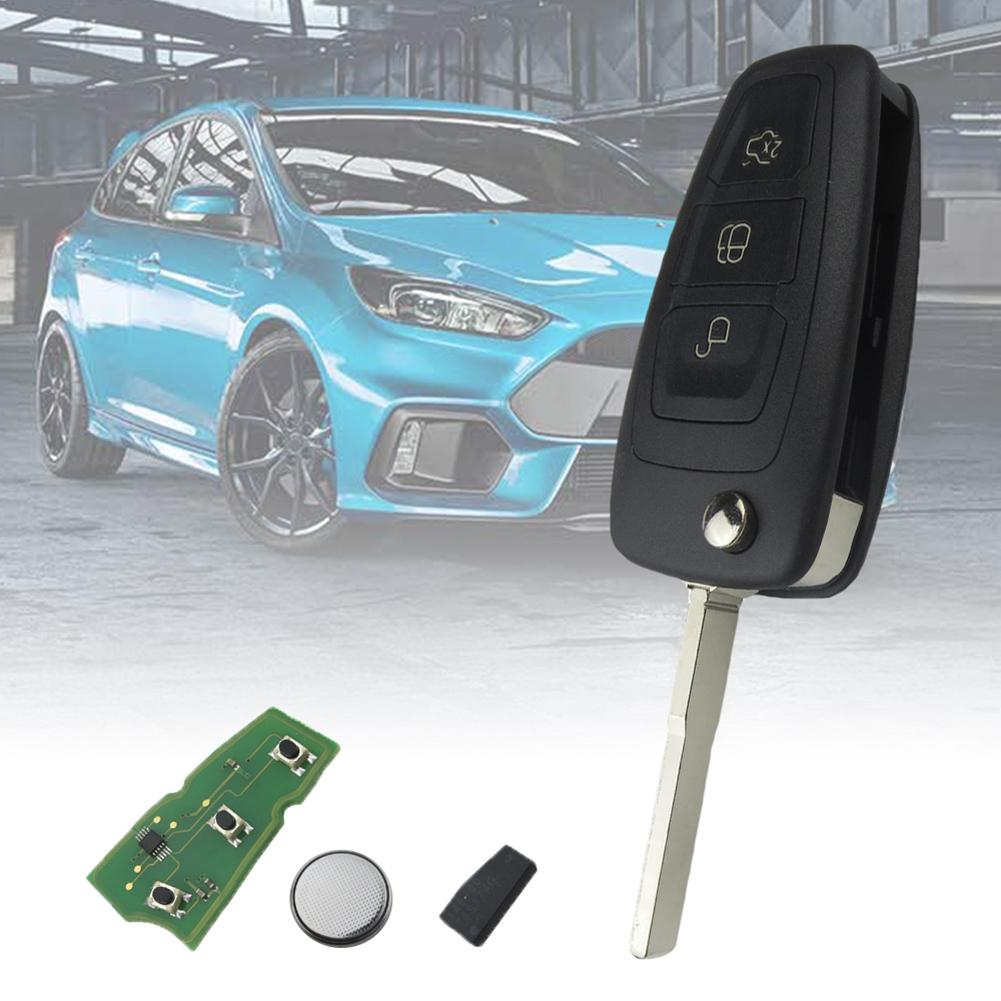 Aliexpress Com Buy New 434mhz Car 3 Button Flip Key Fob Transponder 4d63 Chip Battery For Ford Focus From Reliable Car Key Suppliers On Natasha Car