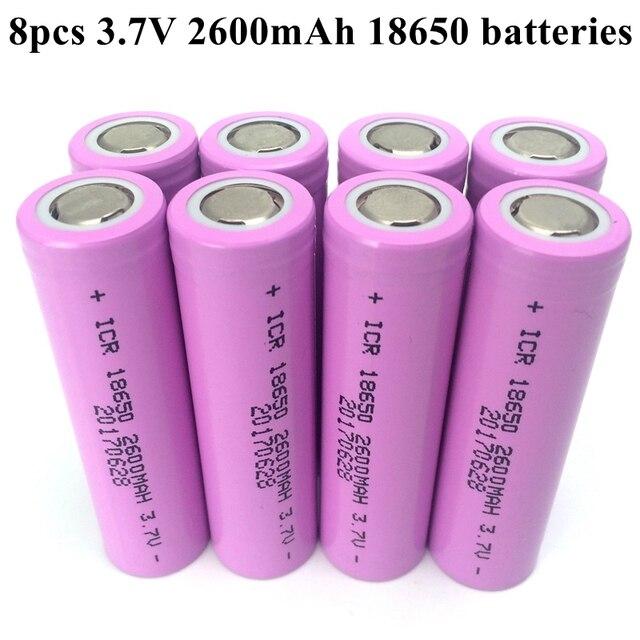 Заводская цена 8 шт./лот оригинальный 18650 мАч 3,7 батареи В 2600 в литий-ионные аккумуляторы для фонарика запасные аккумуляторы для телефонов