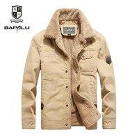 Winter jacket men plus velvet thick Keep warm jacket men's Standing collar casual jacket coat 18158