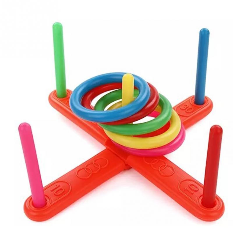 Funny Hoop Ring Plastic Toss Quoits Garden Game Pool Kids Toys