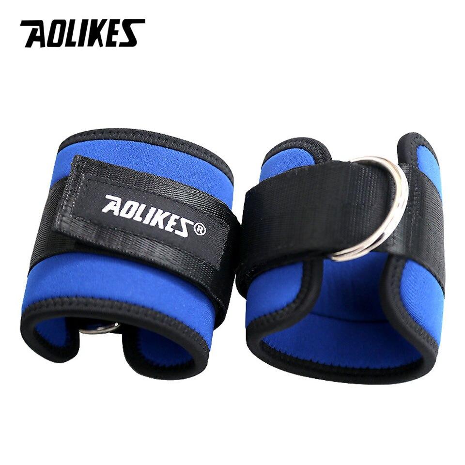 AOLIKES 1 Par Banda de Resistência Do Edifício Do Corpo D-anel Ankle Straps Home Workout Exercício Tornozelo Punhos Perna De Treinamento De Força
