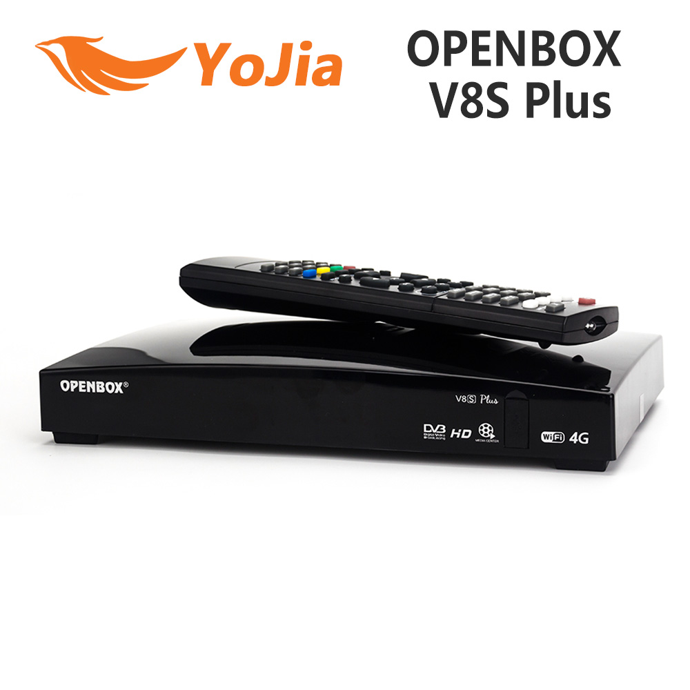 Original Openbox V8S Plus DVB-S2 Digital Satellite Receiver S-V8 WEBTV Biss Key 2x USB Slot USB Wifi 3G Youporn NEWCAMD(China)