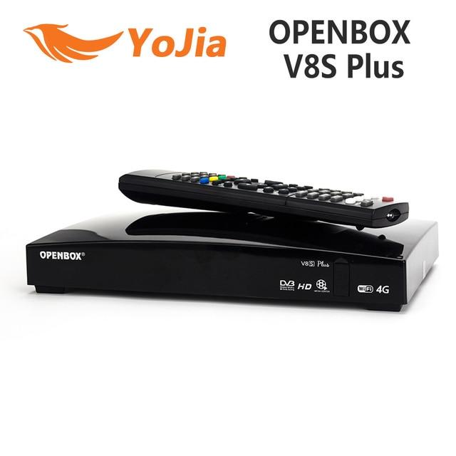 Original Openbox V8S Plus DVB-S2 Digital Satellite Receiver S-V8 WEBTV Biss Key 2x USB Slot USB Wifi 3G Youporn NEWCAMD