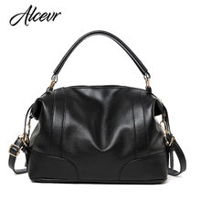 ALCEVR All-match Pu Leather Bag Large Capacity Female Handbags Women Famous Brand Shoulder Bag Vintage Girls Bag Bolsa Feminina(China)