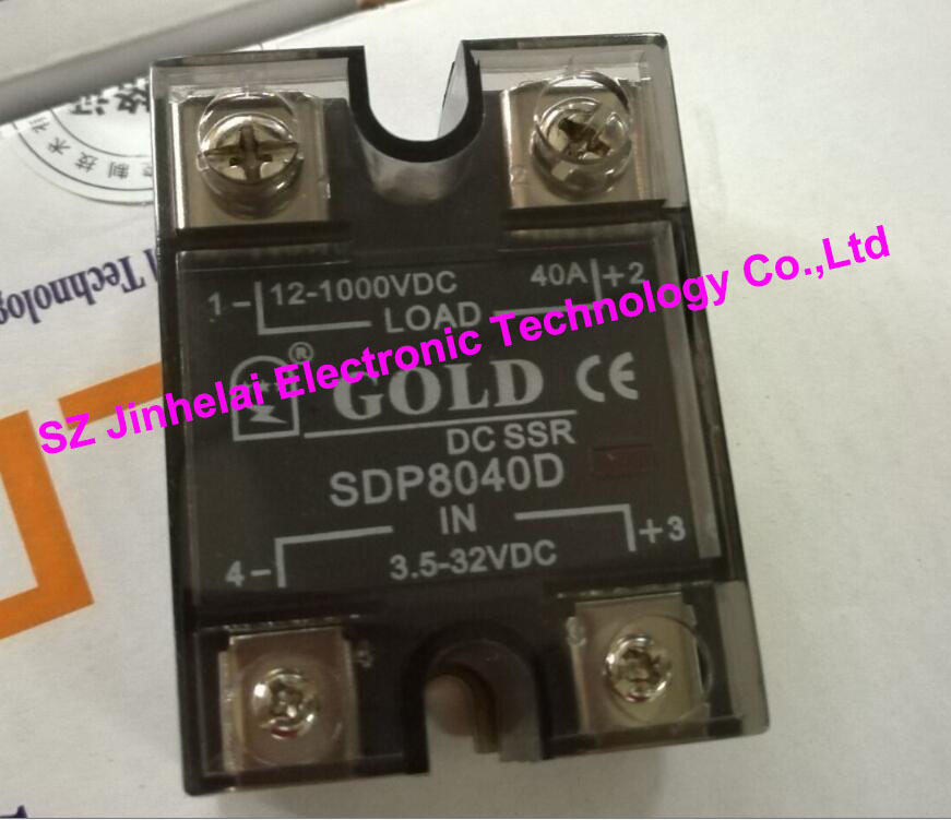 New and original  SDP8040D  GOLD Single phase DC Solid state relay  12-1000VDC  3.5-32VDC  40A saimi skdh145 12 145a 1200v brand new original three phase controlled rectifier bridge module