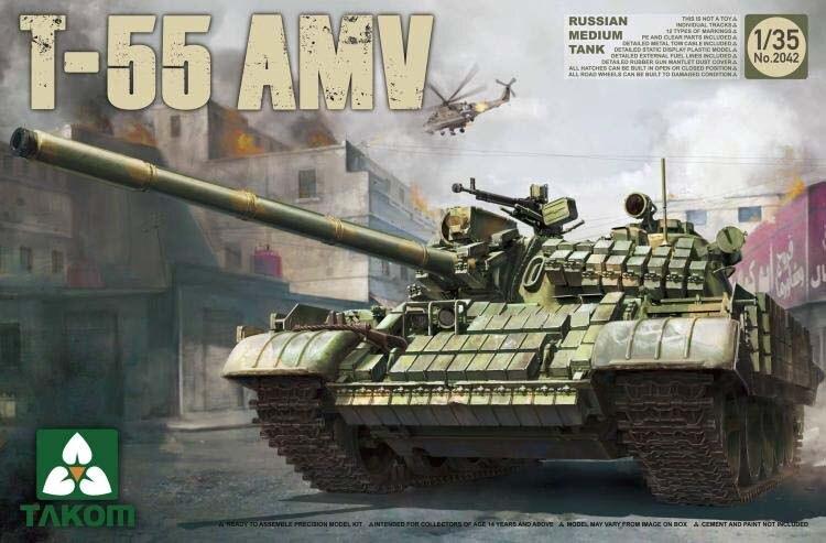 TAKOM 2042 1/35 Russe Moyen Réservoir T-55 AMV