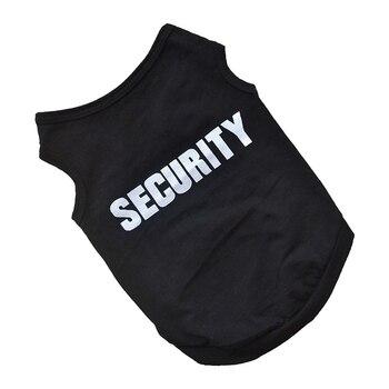 """Serin stil Pet kış giysileri yavru köpek kedi yelek T gömlek ceket elbise kazak giyim """"güvenlik"""", siyah S"""