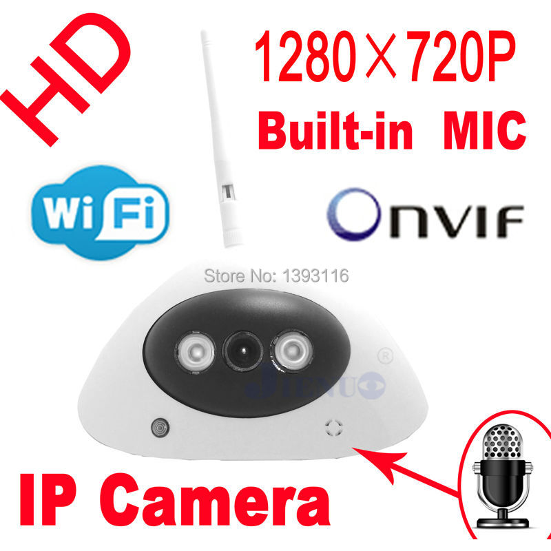 freeshipping audio ip camera 720P hd Wireless wifi dome cameras infrared mini cctv systems security door home video indoor white freeshipping rs232 to zigbee wireless module 1 6km cc2530 chip