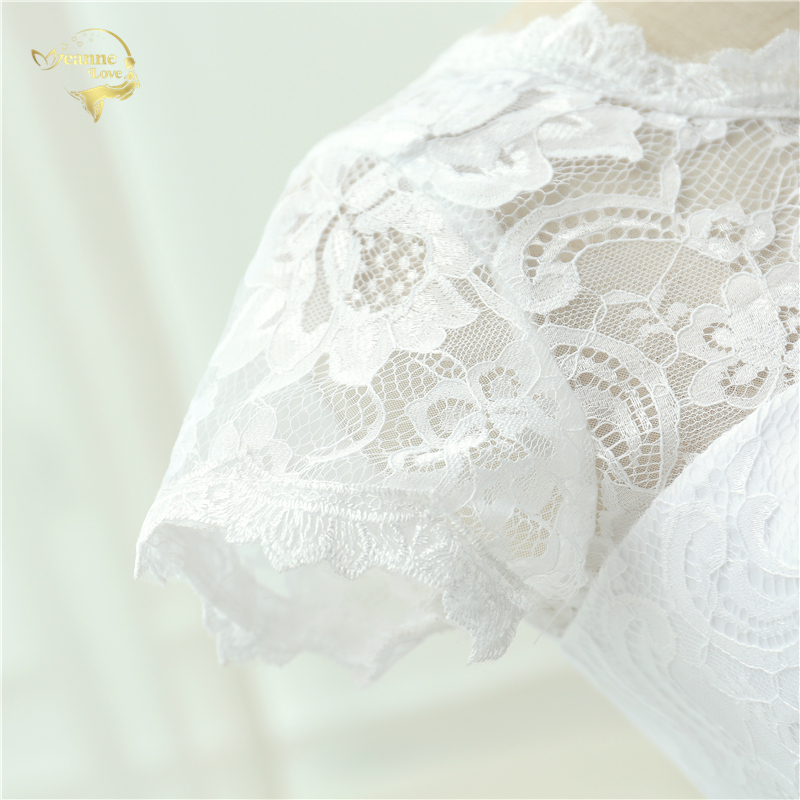 Klassisk Se genom Vestido De Noiva En Linjeklänning De Mariage Te - Bröllopsklänningar - Foto 6