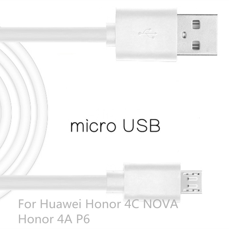 Micro USB Cable Fast Charging Mobile Phone USB For Huawei Honor 4C Honor 4A P6 Android Charger Cable 1M Data Sync Cable