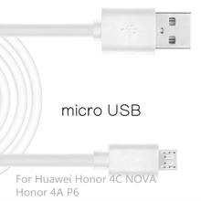 Micro USB Cable Fast Charging Mobile Phone USB For Huawei Honor 4C Honor 4A P6 Android