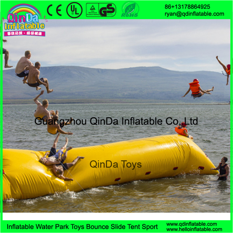 0.9mm PVC Tarpaulin Inflatable Water Jumping Pillow / Inflatable Water Catapult Blob For Sale