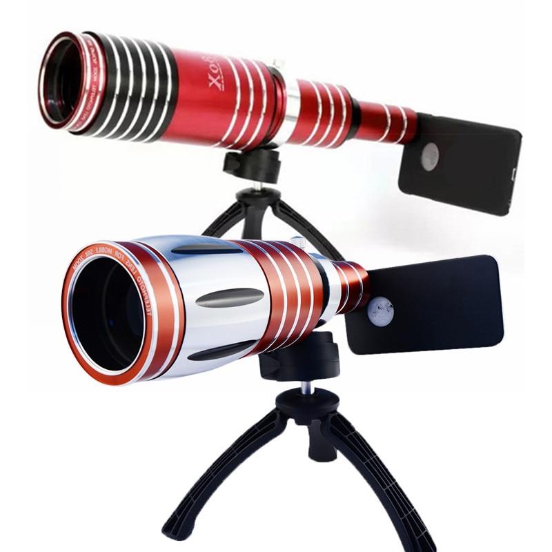 Высокая конец 50X 80X телеобъектив зум объектив телескоп мобильный телефон объективы камеры со штативом для iPhone смартфон Кемпинг Туризм